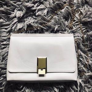 ASOS white and gold crossbody bag